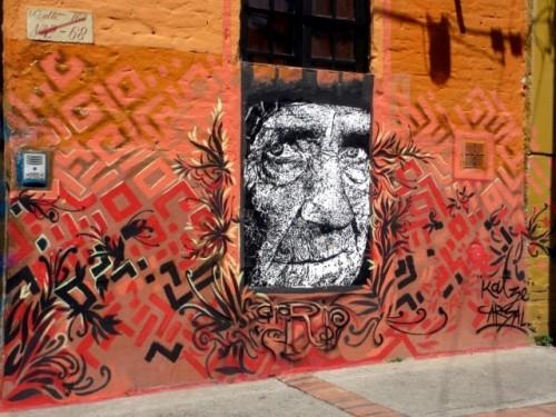bogota graffiti old man