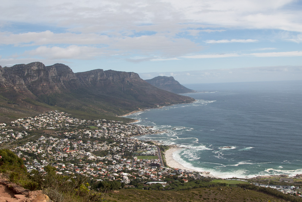 cape town lions head mountain seaside