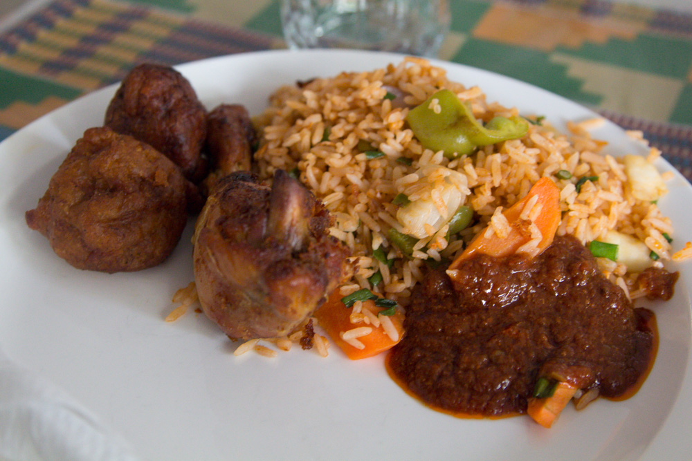 ghana jollof rice with chicken