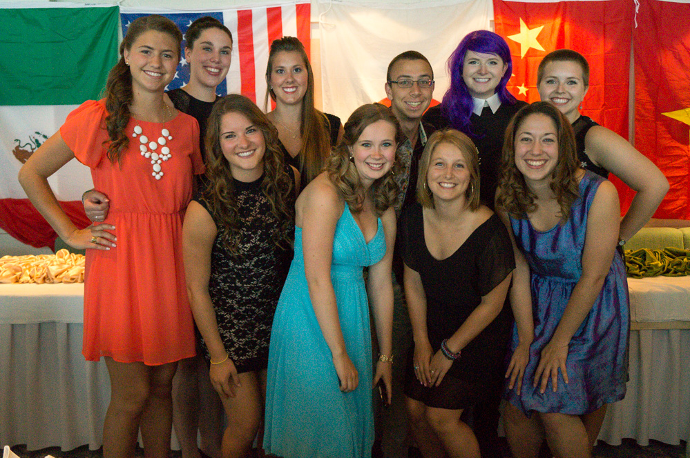 semester at sea group photo alumni ball