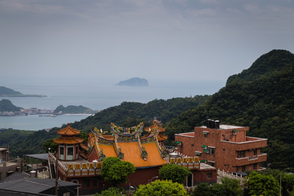 Jiufen Temple and Mountain View