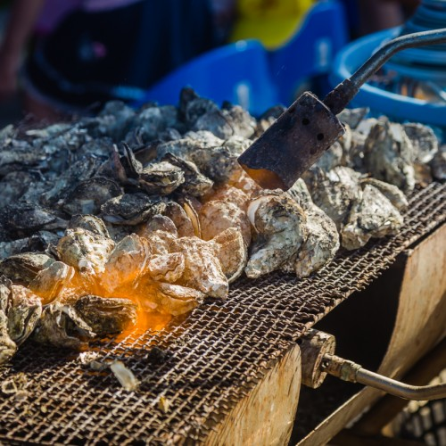 Grilled Oysters at Qigu Lagoon 七股潟湖