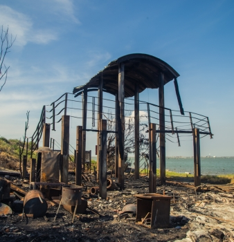 Anping Beach: Wildfires and a Fishermans' Hut